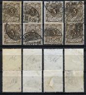 D. Reich 8 Briefmarken Der Michel-Nr. 45b Gestempelt - Geprüft - Oblitérés