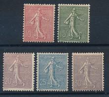 ED-292: FRANCE: Lot Avec  N°129/133* - 1903-60 Sower - Ligned