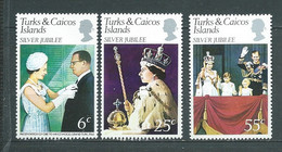 Turks Et Caiques Yvert N° 362 / 364  **  3 Timbres Neufs Sans Charnière  -   Mala 10013 - Turks And Caicos