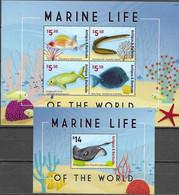 ANTIGUA AND BARBUDA, 2021, MNH, MARINE LIFE, FISH, STING RAYS, SHEETLET+S/SHEET - Fishes