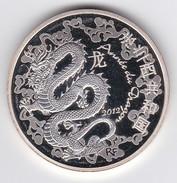 Médaille En ARGENT 90%, état Neuf++, Tirage 10 000 Exemp. Certificat, 2012 Année Du Dragon, 4 Scans Acheté Neuve 60€ - Other