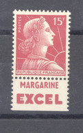 France  :  Yv  1011 A  **  Pub Excel - Unused Stamps