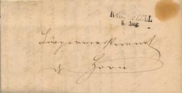 1867 , ALEMANIA , CARTA CIRCULADA CON MARCA LINEAL DE RADOLFZELL CON FECHA DE 6 DE AGOSTO - [1] Prephilately