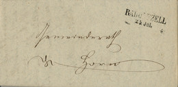 1867 , ALEMANIA , CARTA CIRCULADA CON MARCA LINEAL DE RADOLFZELL CON FECHA DE 25 DE JULIO - [1] Prephilately