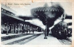 ACQUI-Interno Della Stazione-Vg Il 9.1.1926-ORIGINALE D'Epoca Al100%-2 Scann - Alessandria