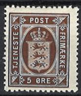 Denmark 1914/1920. Dienstmarke, Officials, Mi.Nr. 15, Postfrisch **, MNH - Dienstpost