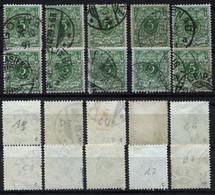 D. Reich 10 Briefmarken Der Michel-Nr. 46c Gestempelt - Geprüft - Oblitérés