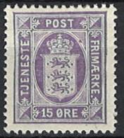 Denmark 1914/1920. Dienstmarke, Officials, Mi.Nr. 18,*, MH - Dienstpost