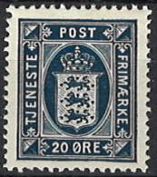 Denmark 1914/1920. Dienstmarke, Officials, Mi.Nr. 19,*, MH - Dienstpost