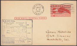 Ganzsache, United States, Denison- Montebello, Gelaufen 1950 - Covers & Documents