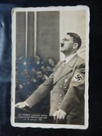 Adolf Hitler - Photo Carte - Der Führer Während Seiner Historischen Reichstagsrede Am 30 Januar 1939 - 2 Scans - Guerre 1939-45