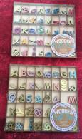 2-☛Handcrafted Wooden Letter Box Decorative Colored Sequins-☛Boîte Artisanat Lettres Bois-paillettes Décoratives Couleur - Scrapbooking