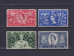 GREAT BRITAIN 1953, SG# 532-535, Elizabeth II, Flowers, Used - Used Stamps