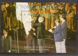 SAO TOME AND PRINCIPE 1988  Olympic Games, Gold Sign - Zomer 1988: Seoel