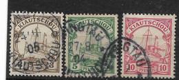 Deutsches Reich, 3 Gut Gestempelte Werte Der Ausgabe Für Kiautschou Von 1901, - Kolonie: Kiautschou