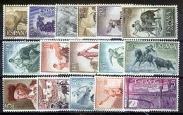 ESPAÑA SEGUNDO CENTENARIO SERIES Nº 1254/61** TAUROMAQUIA - 1951-60 Neufs
