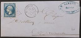Lettre 22 LGC 2365 Miramont Lot-et-Garonne (45) à Marmande 22.02.64 France – 9bleu - 1849-1876: Periodo Classico
