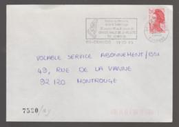 Flamme Dpt 91 : RIS ORANGIS (SCOTEM N°  7520ay Du 24/10/1985 => 20/01/1986) : Festival Industrie & Technologie - Annullamenti Meccanici (pubblicitari)