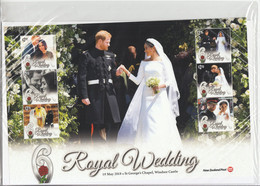 2018 New Zealand Royal Wedding Harry  VERY LARGE Miniature Sheet Of 6 MNH @ BELOW FACE VALUE - Unused Stamps