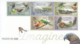 2018 New Zealand Imagine Conservation Birds Oiseaux Miniature Sheet Of 5 MNH @ BELOW FACE VALUE - Unused Stamps