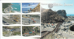 2018 New Zealand Reconnecting Construction Helicopters Trains Cranes  Miniature Sheet Of 6 MNH @ BELOW FACE VALUE - Unused Stamps