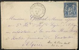RARE Lettre 90 Sage Lus-la-Croix-Haute Drôme (25) à Batna (Constantine) Algérie 22.12.81 France – 6krlot - 1877-1920: Periodo Semi Moderno
