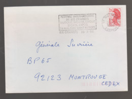 Flamme Dpt 91 : RIS ORANGIS Temporaire Non Illustrée De 1986 : Festival Musique, Théâtre, Cirque, Sports - 24 Mai 1986 - Annullamenti Meccanici (pubblicitari)