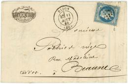 1869 N°29 Superbe Lettre Illustrée Et Facture De Dijon Vers Beaune ,Poulain & Blavier - 1849-1876: Periodo Classico