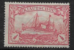 Deutsches Reich, Guter Postfrischer Wert Der Ausgabe Für Kiautschou Von 1905 Mit Wasserzeichen U. 26 Zähne - Kolonie: Kiautschou