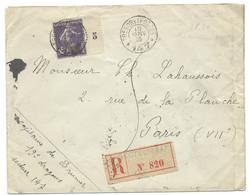 SP ENVELOPPE WW1 FRANCHISE MILITAIRE / TRESOR ET POSTES *147* / 1916 POUR PARIS / 19° DRAGONS - Guerra Del 1914-18