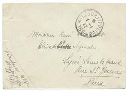 SP ENVELOPPE WW1 FRANCHISE MILITAIRE / TRESOR ET POSTES *139* / 1917 POUR PARIS - Guerra Del 1914-18