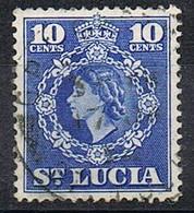 1953-54 - ST. LUCIA - REGINA ELISABETTA II / QUEEN ELIZABETH II. USATO / USED - St.Lucia (...-1978)