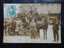 Liège? - Photo Carte - Gros Plan Attelage - Carte Restaurée Avec Timbre Ancien - Format: 13/9cm - 2 Scans - Liege