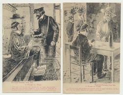 Lot De 2 Cartes Fantaisie Humour - Illustrateur - Types Du Tarn N° 3 Et 4 - Phototypie Tarnaise - POUX ALBI - Non Classés