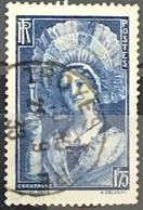 YT 388 (°) Obl 1938, Champenoise 1f75 Outremer (côte 4,6 Euros) France – 5bleu - Oblitérés
