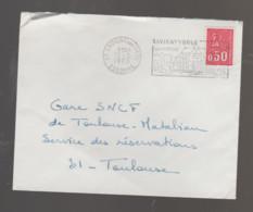 Flamme Dpt 91 : SAVIGNY SUR ORGE (SCOTEM N°  1188a  émise Le 27/10/1965) : Château (type I Codée) - Annullamenti Meccanici (pubblicitari)