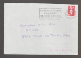 Flamme Dpt 91 : SAVIGNY SUR ORGE Temporaire Non Illustrée De 1991 : 17 Ans : Recensement à La Mairie De Votre Domicile - Annullamenti Meccanici (pubblicitari)