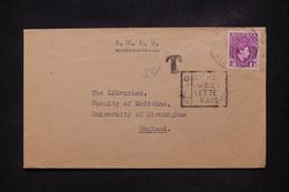 NIGERIA - Enveloppe Pour Le Royaume Uni Avec Cachet De Taxe - L 108746 - Nigeria (...-1960)