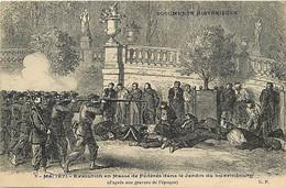 Themes Div Ref HH963-guerre 1870-71-dessin Illustrateur -execution De Federes Dans Le Jardin Du Luxembourg -paris - Andere Oorlogen