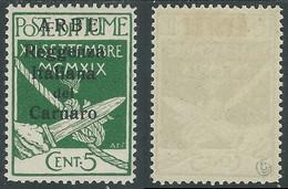 1920 ARBE REGGENZA DEL CARNARO II TIPO 5 CENT MH * - I5-9 - Arbe & Veglia