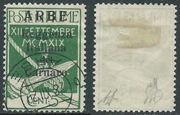 1920 ARBE USATO REGGENZA DEL CARNARO I TIPO 5 CENT - I5-10 - Arbe & Veglia