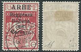 1920 ARBE USATO REGGENZA DEL CARNARO I TIPO 10 CENT - I5-10 - Arbe & Veglia