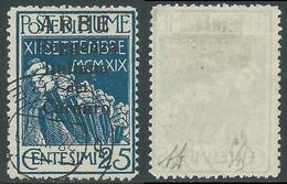 1920 ARBE USATO REGGENZA DEL CARNARO I TIPO 25 CENT - I5-7 - Arbe & Veglia