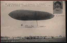 """Les Pionniers De L'Air - Le Dirigeable """"LE ZODIAC"""" à M. De La VAUlX - Aeronaves"""