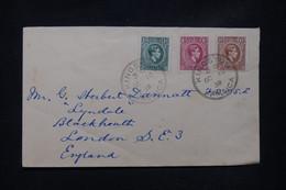JAMAÏQUE - Enveloppe De Kingston Pour Londres En 1938, Affranchissement Tricolore - L 108750 - Jamaica (...-1961)