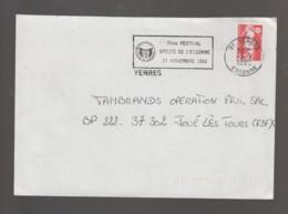 Flamme Dpt 91 : YERRES (SCOTEM N° 14??? Du ??/09 => 20/11/1992) : 7ème Festival Spéléo De L'Essonne - Novembre 1992 - Annullamenti Meccanici (pubblicitari)