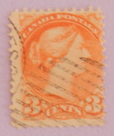 """CANADA YT 30 OBLITERE """"REINE VICTORIA"""" ANNÉES 1870/1893 - Used Stamps"""