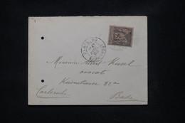 FRANCE - Enveloppe De Paris Pour L'Allemagne En 1889, Affranchissement Sage 25ct - L 108756 - 1877-1920: Periodo Semi Moderno