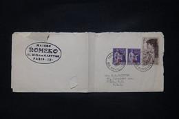 FRANCE - Imprimé Commerciale De Paris Pour Les USA En 1950, Affranchissement Paix Surchargés/ Sarah Bernhardt- L 108757 - 1921-1960: Periodo Moderno