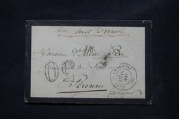 FRANCE - Enveloppe Au Départ De La Gare De Chambéry Pour Péronne En 1871 Avec Taxe 30 D'acheminement - L 108758 - 1849-1876: Periodo Classico